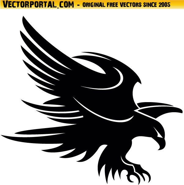 Wall Art Stickers Vector : Best black tribal eagle images on animal