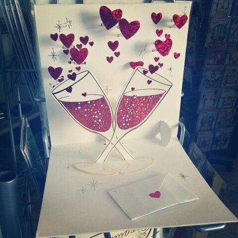 Biglietto auguri per matrimonio in 3D.