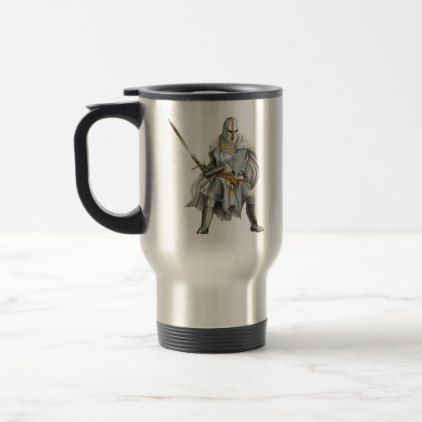 Crusader Knight Travel Mug - home gifts ideas decor special unique custom individual customized individualized