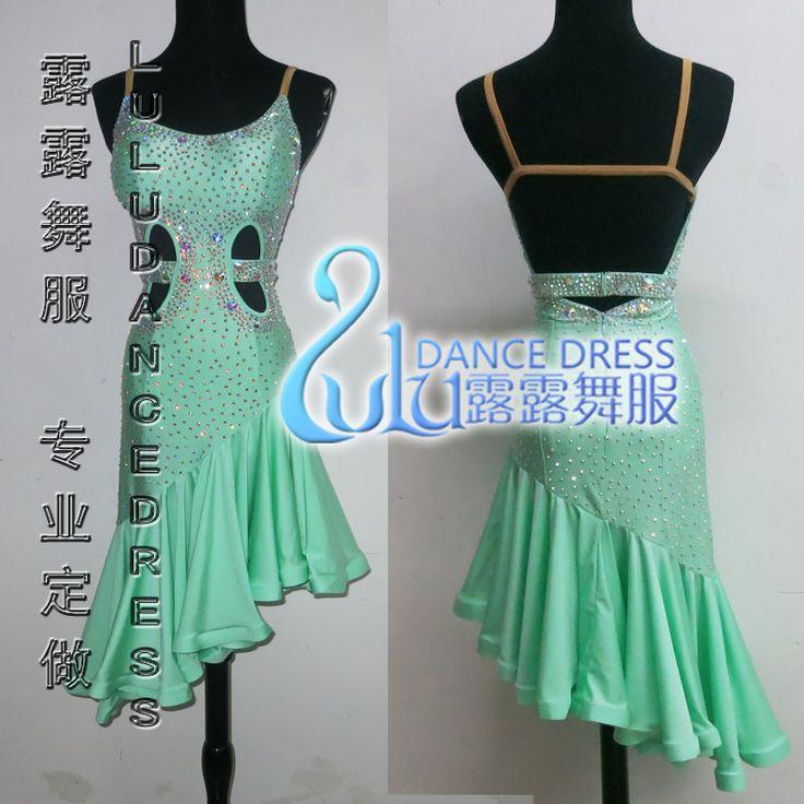Pas cher hot vente salsa tango robe de danse de samba latine v tements de danse lulu 3015 - Robe de danse de salon pas cher ...