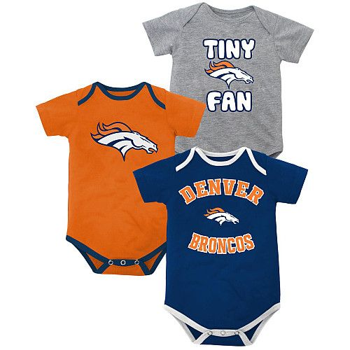 This will be a perfect gift! Newborn Denver Broncos 3 Piece Creeper Set - NFLShop.com