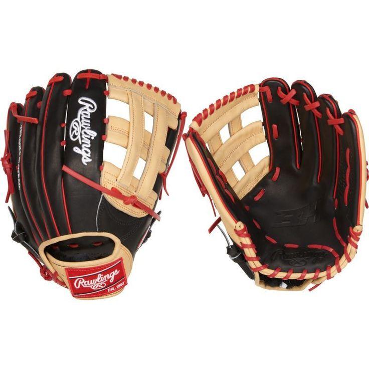 "Rawlings 12.75"" Bryce Harper HOH Series Glove, Black"