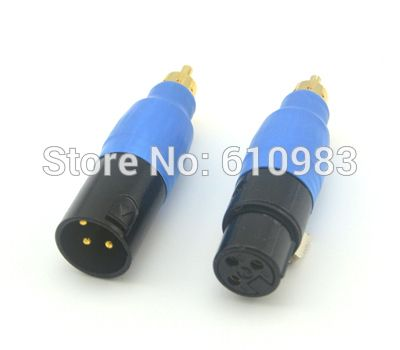 $38.20 (Buy here: https://alitems.com/g/1e8d114494ebda23ff8b16525dc3e8/?i=5&ulp=https%3A%2F%2Fwww.aliexpress.com%2Fitem%2F1-pc-Free-shipping-RCA-XLR-RCA-Plug-to-XLR-Plug-male-Adaptor-3-Pin-XLR%2F32216321251.html ) 2pc high quality ! rca audio connectors rca male to 3 pin jack plug conector xlr rca audio adapter free shipping with tracking for just $38.20