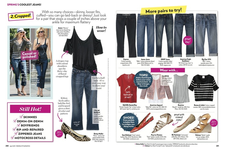 People StyleWatch April '11; Spring's Coolest Jeans!; pages 5 - 6: Stylewatch Fashion, Stylewatch April, People Stylewatch