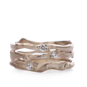 Ring in goud met diamanten | Wim Meeussen Goudsmid Antwerpen