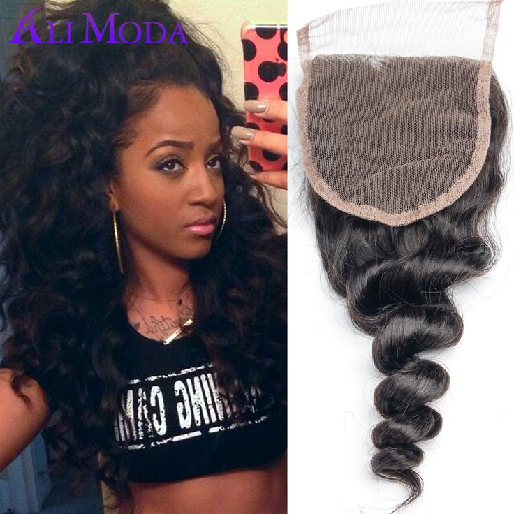 """Find More Lace Closure Information about 6A Malaysian lace closure Malaysian loose wave Free parted Swiss Lace top closure 1pc/lot 4x4"""" Malaysian virgin hair Human hair,High Quality hair accessories for fine hair,China hair loss treatment for man Suppliers, Cheap hair spiral from Ali Moda Hair Products Co.,Ltd on Aliexpress.com"""
