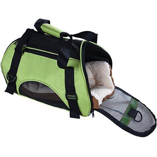 Pet Cuisine atmungsaktiv weichen Transporttasche für Haustiere, Hund Katze Puppy Komfort Tote Schultertasche Rucksack Reisen Großer Käfig, tragbar outdoor Transportbox mit gratis Matte