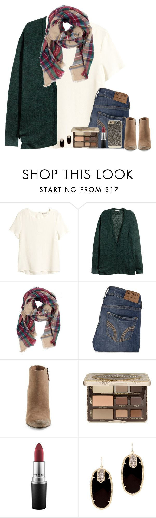 """I'm waiting on you..."" by bloom17 ❤ liked on Polyvore featuring H&M, Hollister Co., Dolce Vita, Too Faced Cosmetics, MAC Cosmetics, Kendra Scott and Case-Mate"