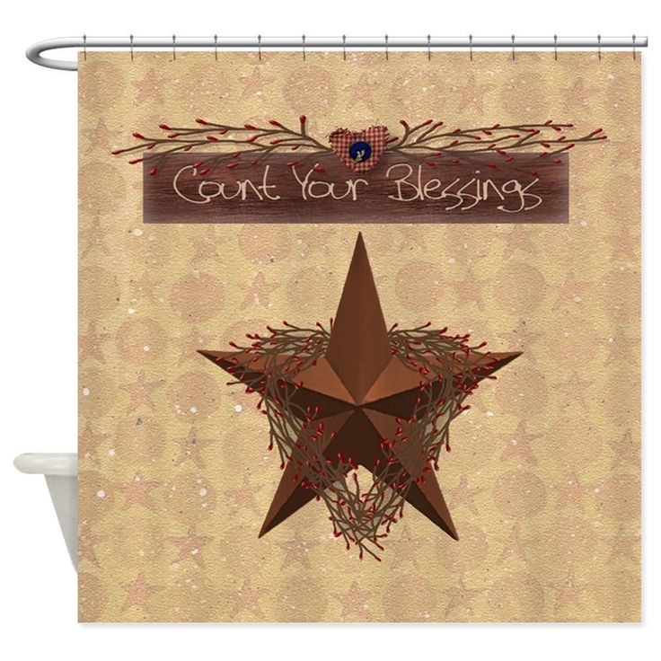 Find five of the most popular styles of country shower curtains, from Rustic, Shabby Chic, French, Provincial, and of course, country style.