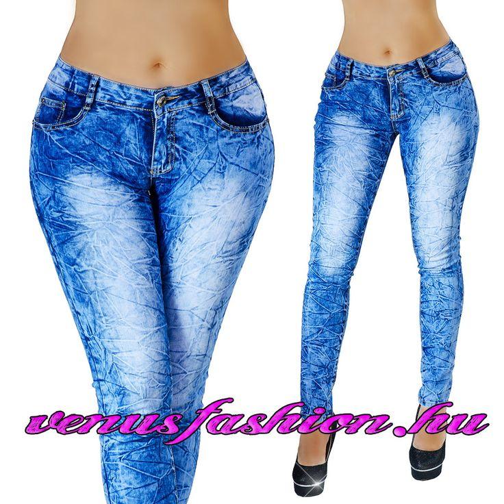 Divatos női koptatott farmer nadrág XS S M L XL méretekben - Venus fashion női ruha webáruház