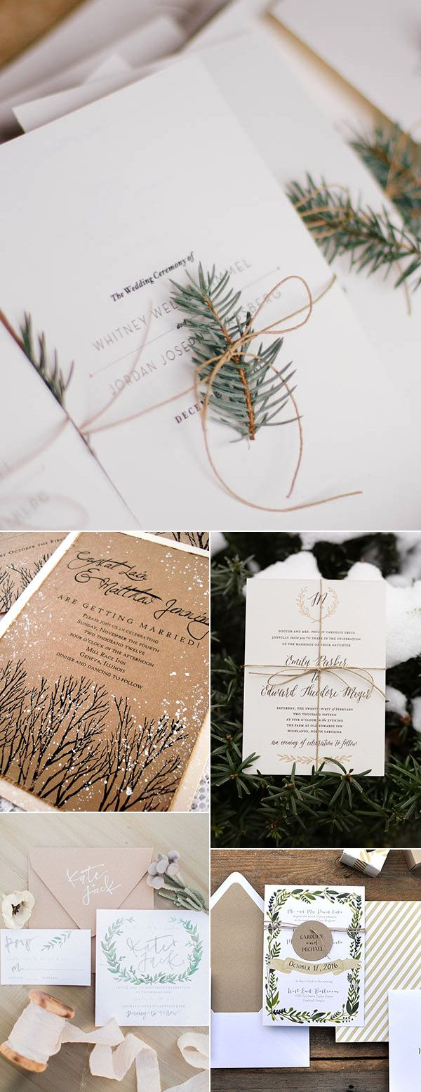 winter themed wedding invitations