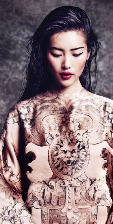 82° Liu Wen Nacionalidade: chinesa Data de nascimento: 26/01/1988  Profissão: modelo #grad #makeup