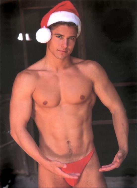 hot naked guys dressed as santa