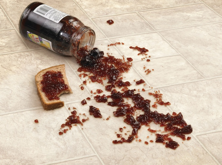 Jelly jar disaster, quickly cleans up so you can get back to your peanut butter &  jelly sandwich