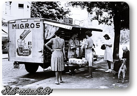 Migros gezici satış kamyonu (moving retail truck named Migros) - 1960 lar