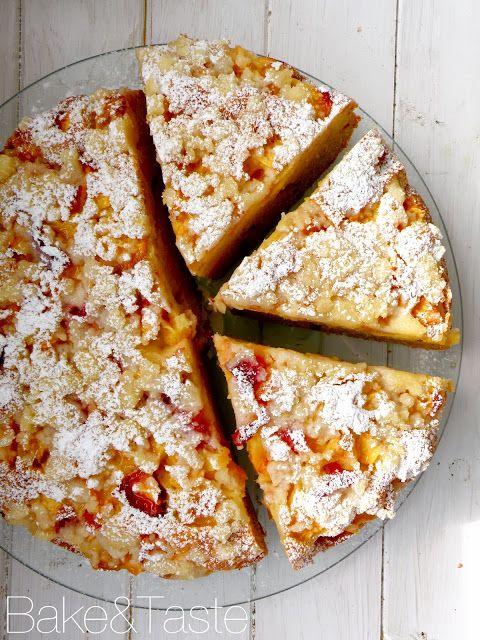 FANTAstyczne ciasto z owocami i kruszonką/ ФАНТАстический пирог с персиками и посыпкой