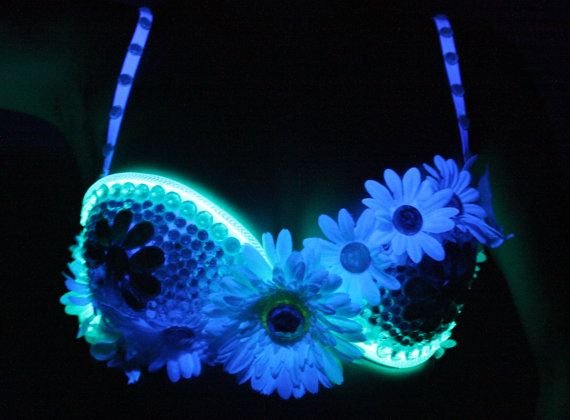 Electric Daisy Flower EL Wire Light Up Rave by EchoDesignCompany