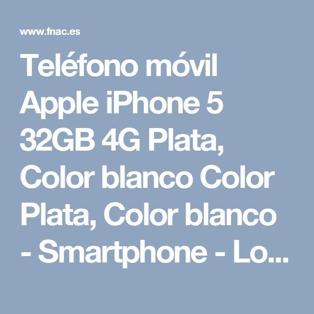 Teléfono móvil Apple iPhone 5 32GB 4G Plata, Color blanco Color Plata, Color blanco - Smartphone - Los mejores precios en Fnac.es