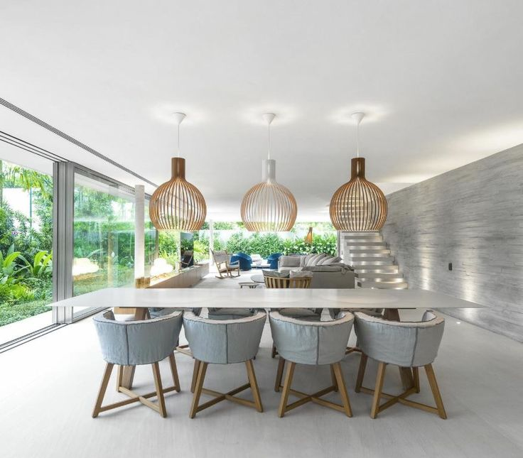 Summer air white house by studio mk27 featuring secto design pendant lights and gervasoni 1882
