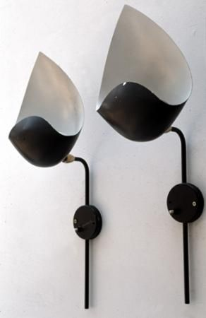 vintage 1950 wall light by serge mouille favorited by. Black Bedroom Furniture Sets. Home Design Ideas