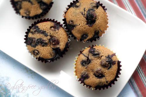 Gluten-Free Blueberry Muffins with Almond Flour | Recipes: Gluten Free ...