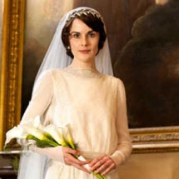 Downton Abbey calla bouquet.