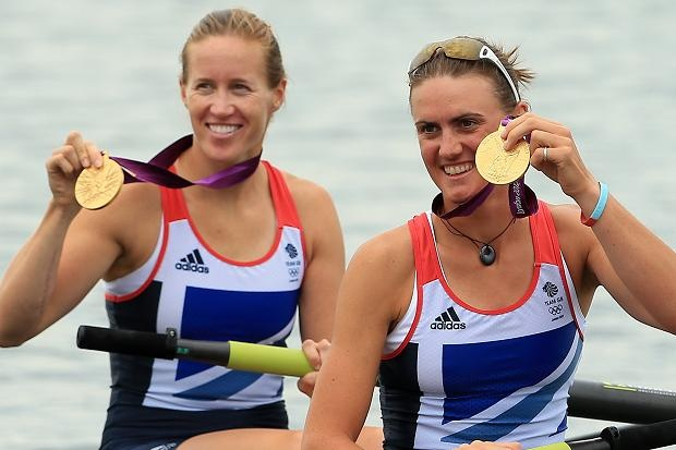 Helen Glover and Heather Stanning win gold for #TeamGB! #Olympics