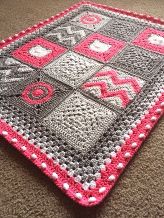 Brighten up your nursery with this fun and versatile piece! Design Profile Location: Utah Pattern: Etsy and Ravelry Materials: Lion Brand Pound of Love – Size K (6.5mm) hook Construction Features:…
