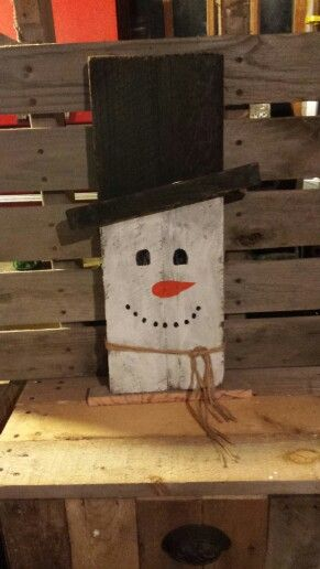 Snowman And Pallets On Pinterest