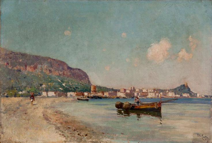 Mondello (olio su tela, 30x55 cm, collezione Galleria Beatrice)