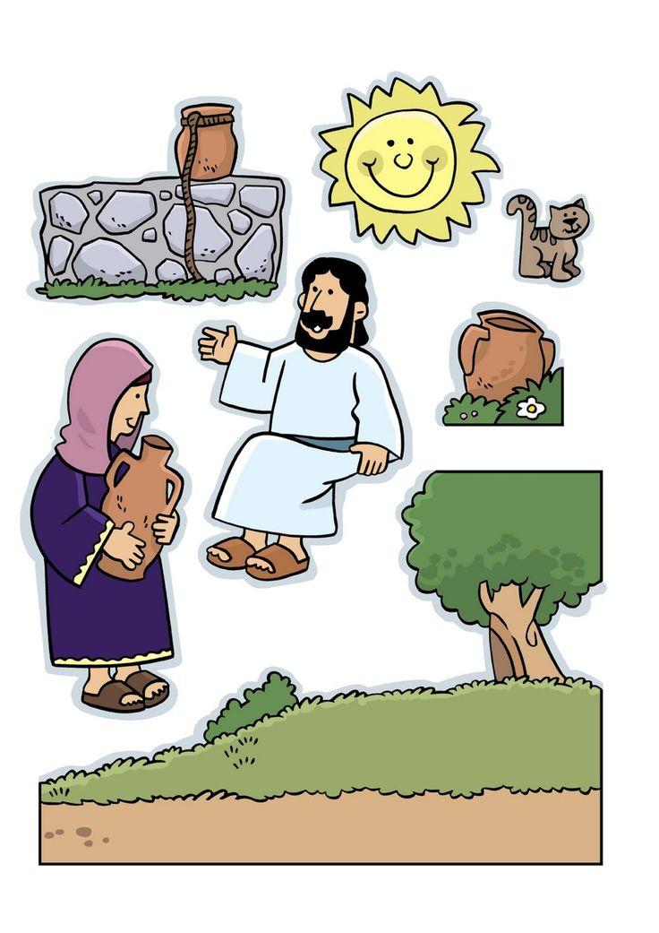 Scripture stories pictures. The words aren't in English- but the pictures are awesome!