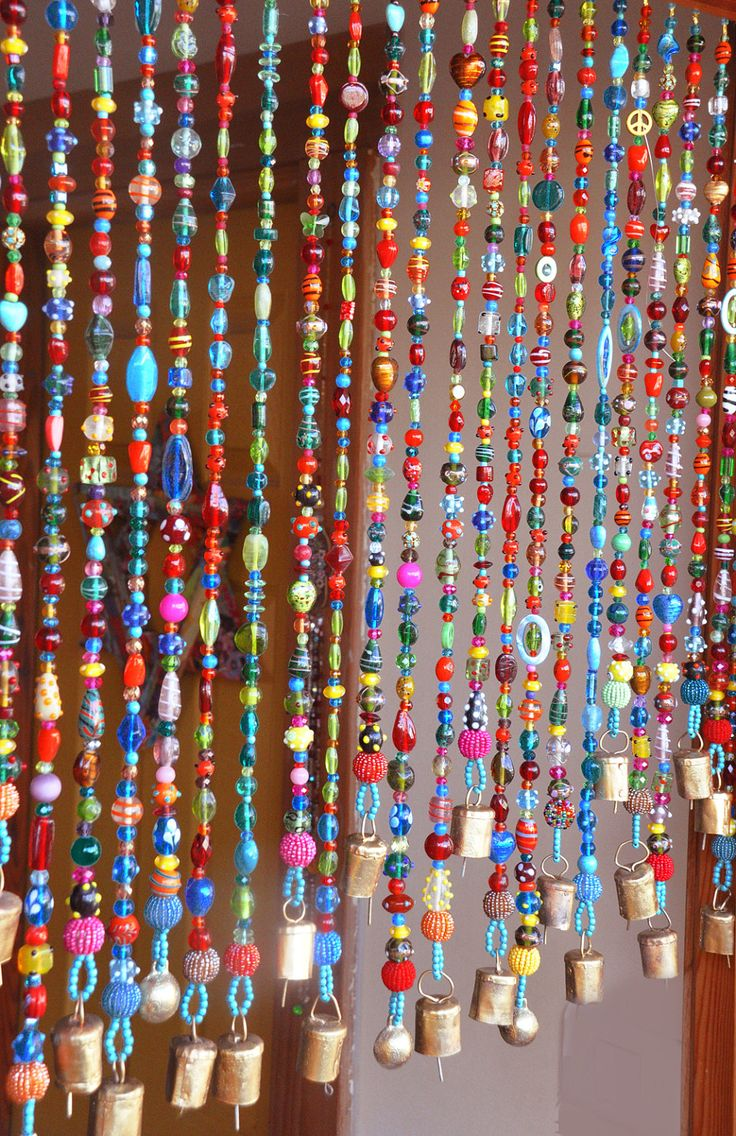Beaded Curtain Bead Curtain  Bohemian Curtain Window Curtain Beaded Door  Curtain Hanging Door Beads Beaded Wall Hanging Bohemian Wall Art