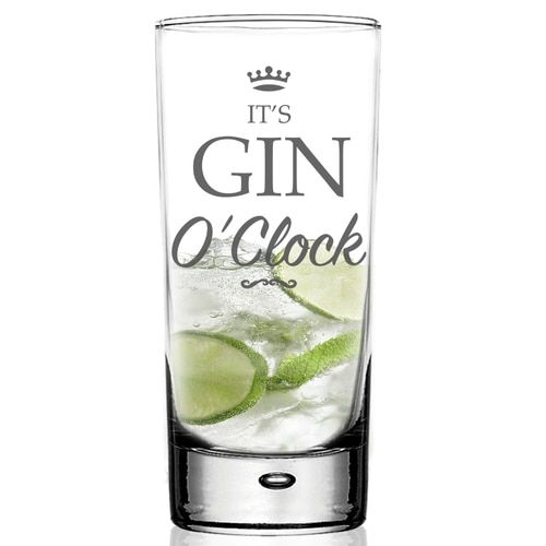 RED GIN O/'CLOCK VINYL STICKERS FOR GIN GLASS X 6