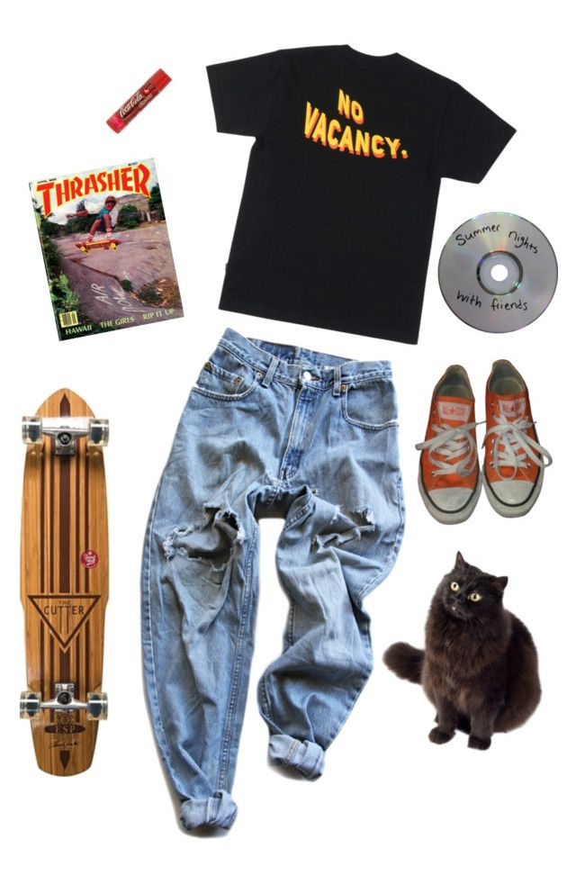 """90's angsty teen"" by jessythebabe ❤ liked on Polyvore featuring Levi's, Converse and Element"