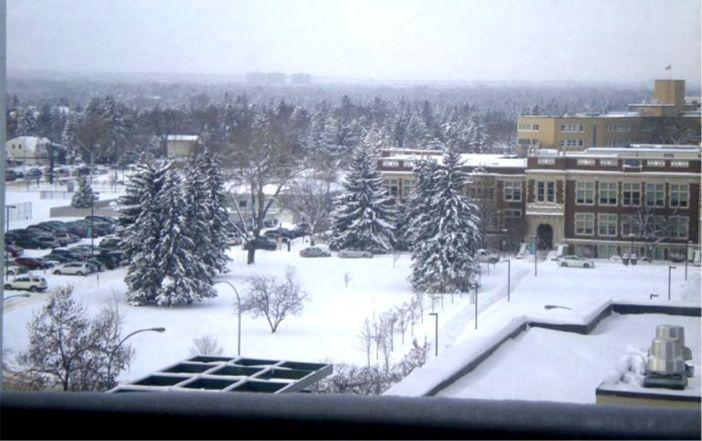 Corbett Hall, UAlberta campus after Nov. 2013 snowfall