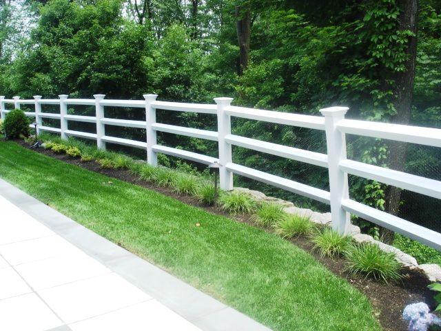 3 Rail Vinyl Post And Rail Fencing Garden Railings Diy