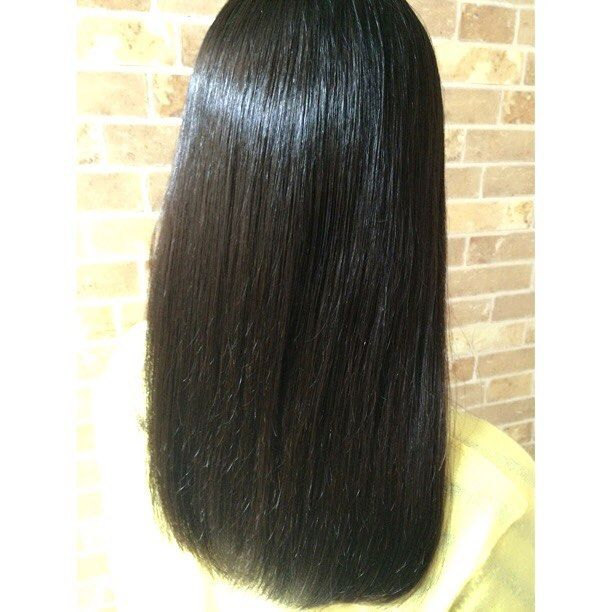 柔らかい髪質の癖が強いお客様もストレートパーマでサラサラになりました #美容室 #creer_for_hair#鹿児島市#鴨池 #梅雨対策#少し早いけど梅雨対策 #サロンモデル募集中 #撮影モデル募集中