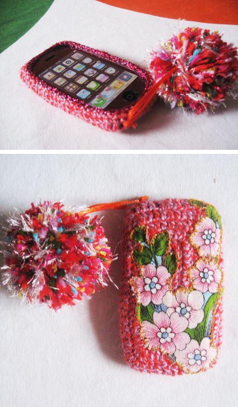 housse pour Iphone au crochet #crochet #tambouille
