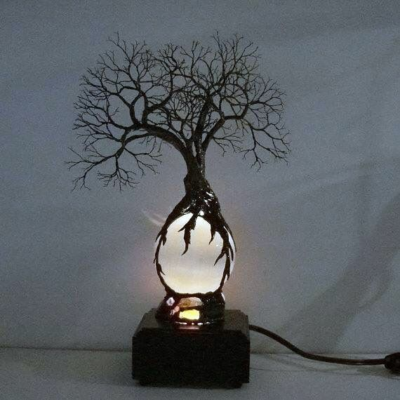 ... Tree Lamp on Pinterest Homemade lamps, Kitchen lamps and Tree trunk