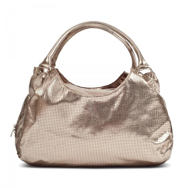 Susan Nichole Vegan Handbag Style 109 Brooklyn In Metallic Gold
