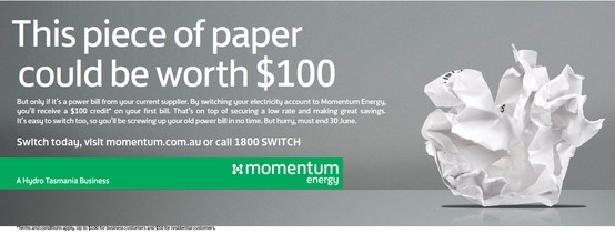 #Melbourne, #Victoria it's time to switch! By Switching your #electricity #account to Momentum Energy, residential customers will receive a $50 credit towards your first energy bill. For business customers, we're doubling that to a whole $100. Plus, you'll secure our low rates and make some great savings.