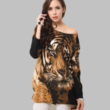 Dress Plus Size Women Clothing 2016 New Spring Dress Long Sleeve Zebra Print Women's Knitting Casual Winter Dress Vestidos(China (Mainland))