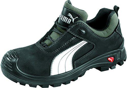 Puma Safety Shoes Cascades Low S3 HRO SRC, Puma 640720-202 Unisex-Erwachsene Espadrille Halbschuhe, Schwarz (schwarz/weiß 202), EU 48 - http://on-line-kaufen.de/puma/48-eu-puma-safety-sicherheitsschuhe-cascades-low