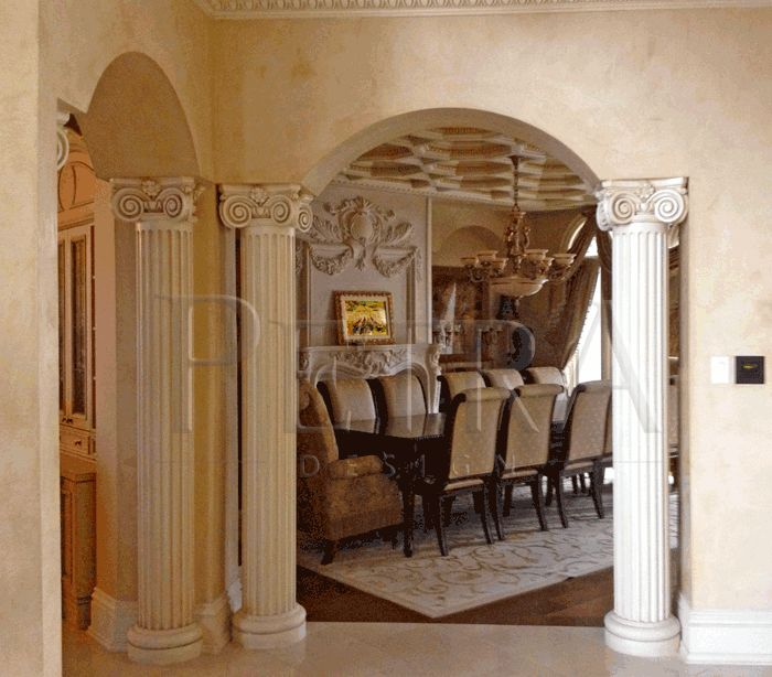 Grg interior decorative columns grg interior columns for Decorative wood columns interior