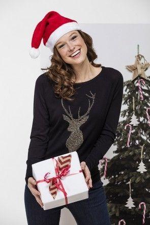 Zwarte Kersttrui.Zwarte Kersttrui Studs Kerstmis Pinterest Kleding