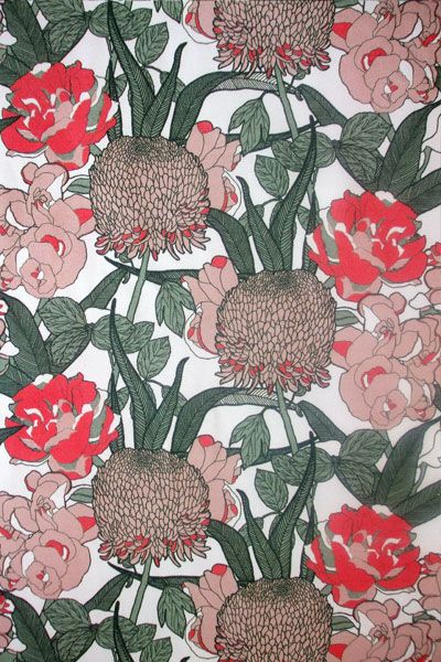 Mr Chrysanth Fabric | Abigail Borg | Surface Pattern Designer & Floral Illustrator