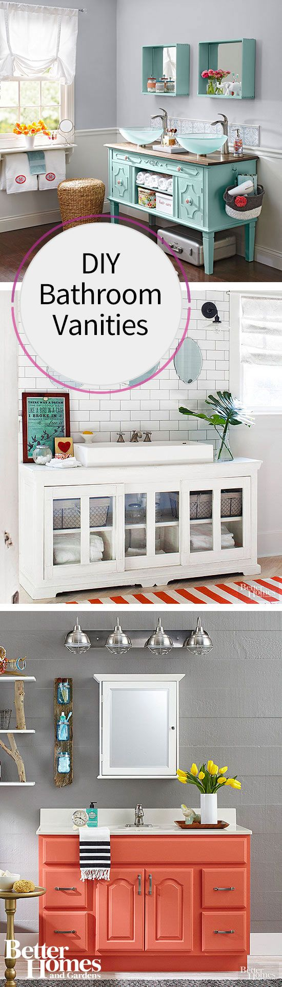 Make Photo Gallery  Ideas for a DIY Bathroom Vanity