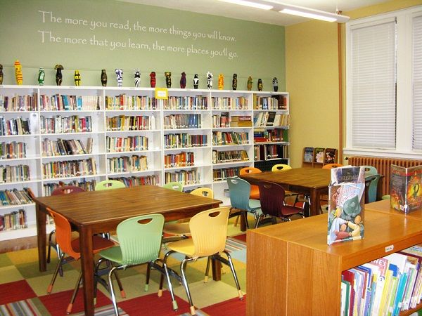 Classroom Design Literature ~ Best images about elementary library spaces on