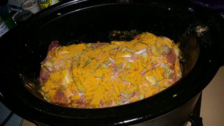 pete evans going paleo cookbook: balinese pork belly recipe but used pork shoulder cooked in slow cooker