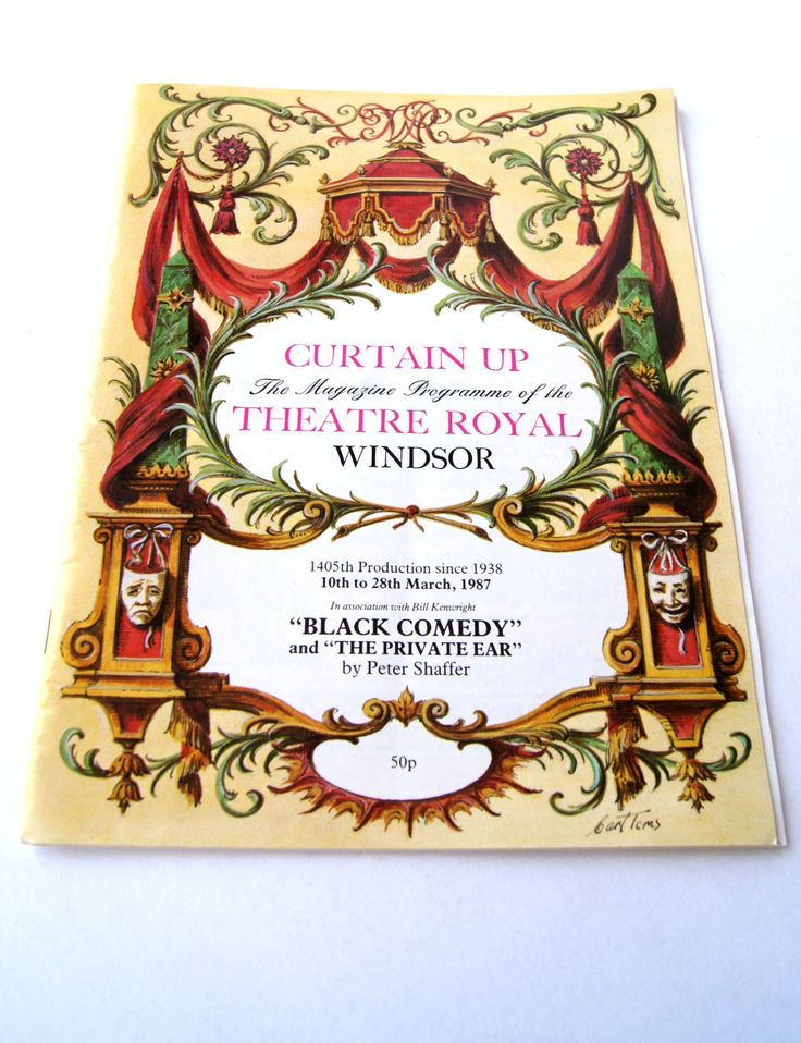 Curtain Up - The Magazine Programme of The Theatre Royal Windsor - Black Comedy and The Private Ear by Peter Shaffer by ANTIGOs on Etsy